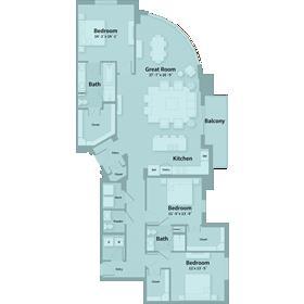 2,129 sq. ft. F1 floor plan