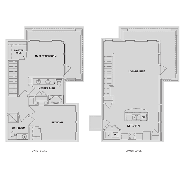 1,302 sq. ft. BB1-TH floor plan