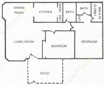 913 sq. ft. 60 floor plan