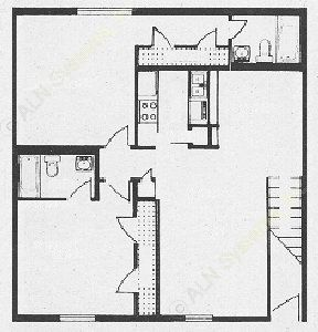 950 sq. ft. B4 floor plan