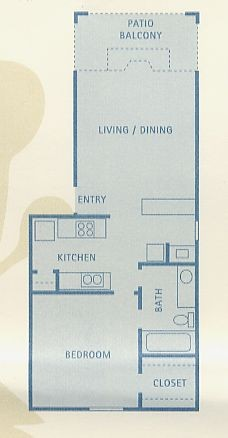 581 sq. ft. Aries floor plan