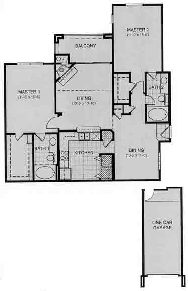 1,177 sq. ft. ASCONA floor plan