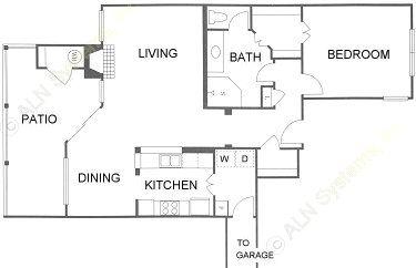 1,059 sq. ft. 1C floor plan