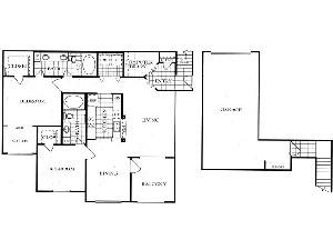 1,282 sq. ft. B5G floor plan