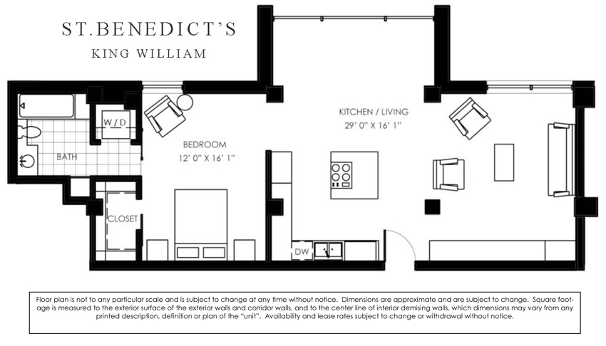 1,062 sq. ft. A floor plan