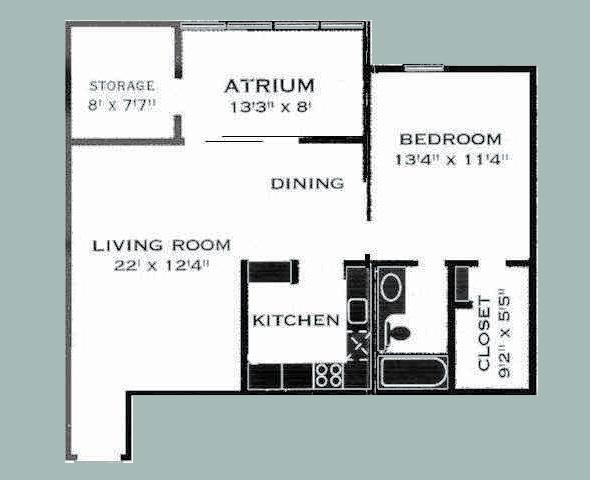 807 sq. ft. D/COPPERCROSSING floor plan