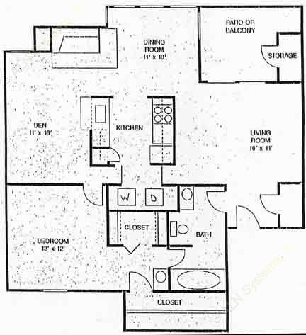 948 sq. ft. Fairview floor plan