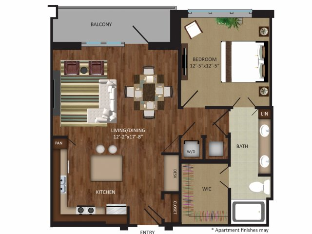 891 sq. ft. A10 floor plan