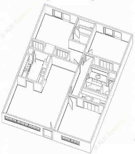 1,040 sq. ft. C1 floor plan