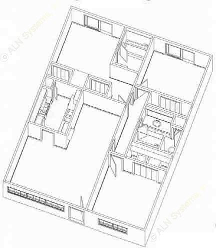 1,040 sq. ft. C1 floor plan