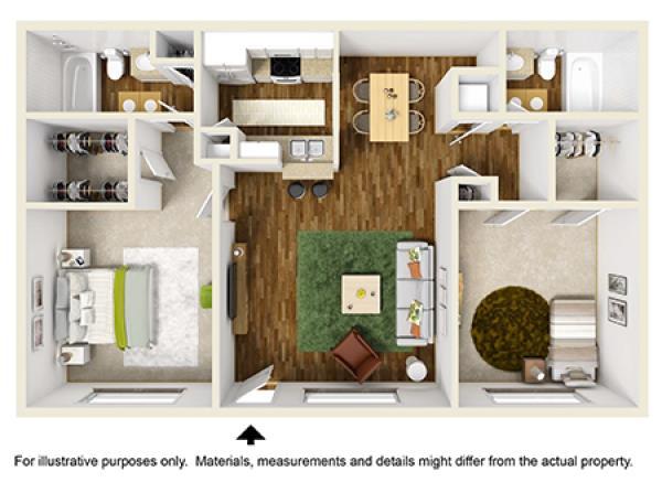 851 sq. ft. floor plan