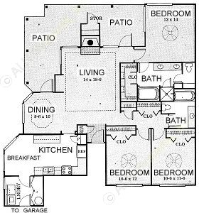 1,515 sq. ft. Rio Grande - C2 floor plan