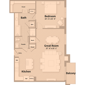 1,218 sq. ft. B3 floor plan