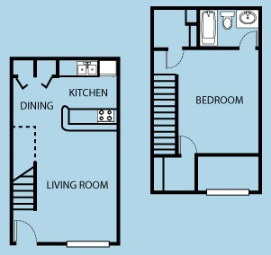 780 sq. ft. floor plan