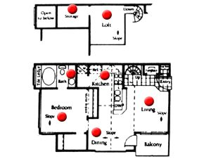 692 sq. ft. floor plan