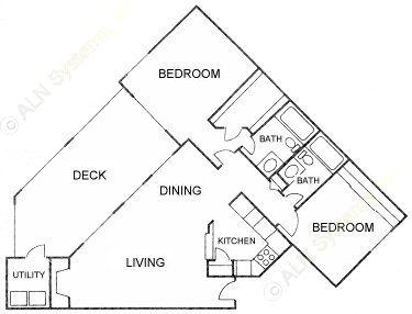 992 sq. ft. F floor plan