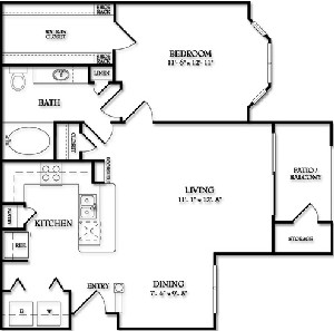 769 sq. ft. Belmont floor plan