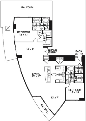 2,237 sq. ft. C1/TOWER floor plan