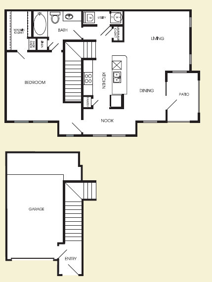 980 sq. ft. Empire floor plan