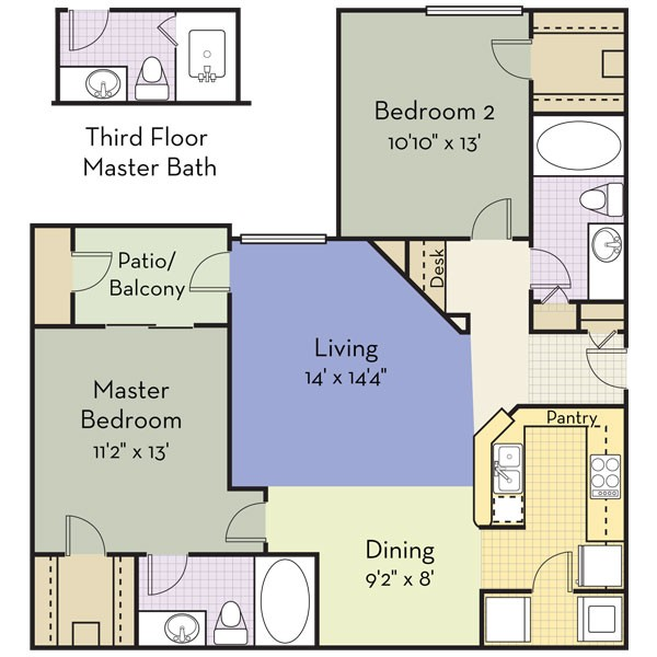 1,041 sq. ft. Albany floor plan