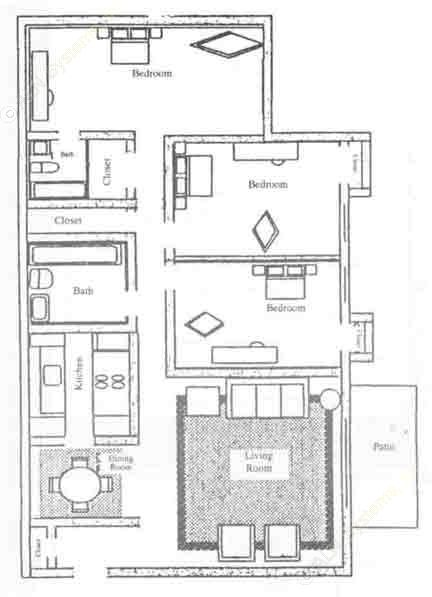 1,188 sq. ft. C1-F floor plan
