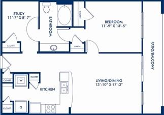 901 sq. ft. Truett floor plan