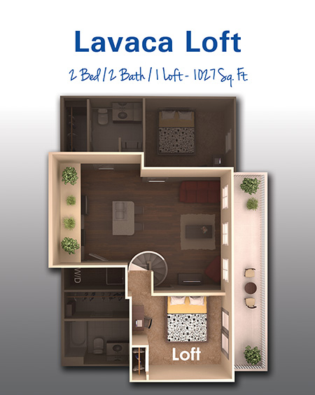1,047 sq. ft. G floor plan