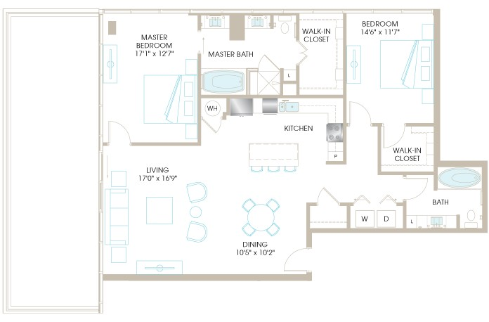 1,529 sq. ft. C9P floor plan