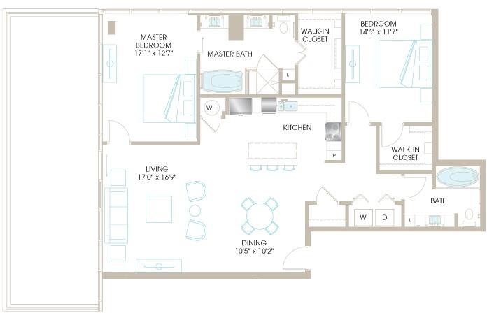 1,529 sq. ft. C9P floor plan