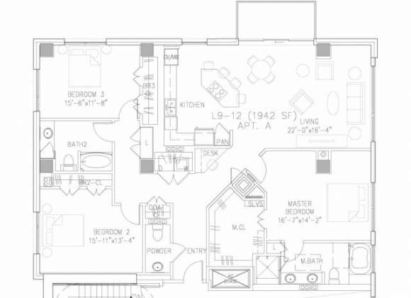 1,942 sq. ft. C1 floor plan