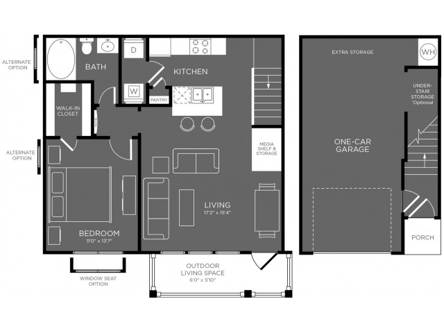 788 sq. ft. Glade floor plan