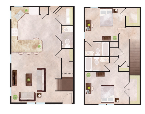 1,379 sq. ft. Keystone floor plan