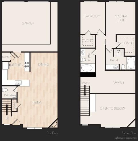 1,490 sq. ft. E2T floor plan