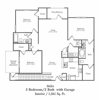 1,561 sq. ft. C1-g floor plan