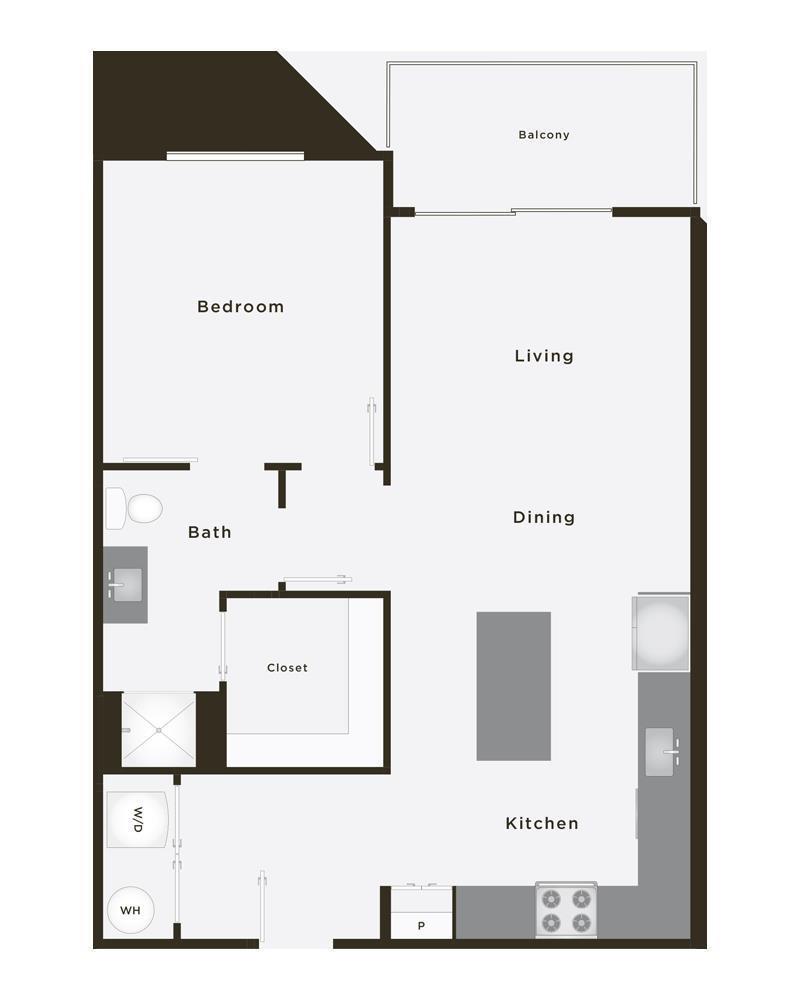 782 sq. ft. Grand Trimph PH floor plan