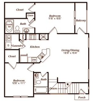1,609 sq. ft. C22G floor plan