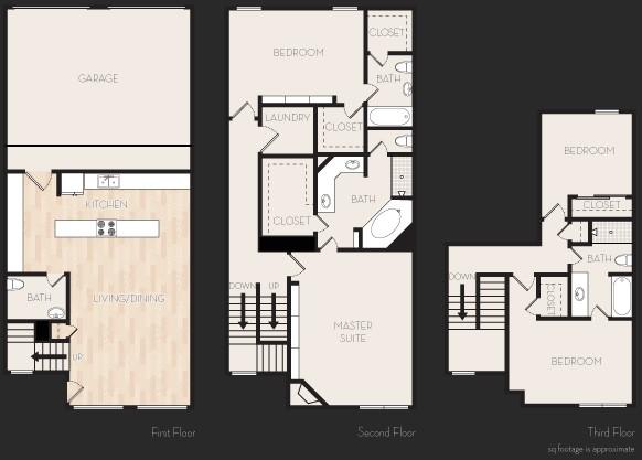2,427 sq. ft. Q1T floor plan