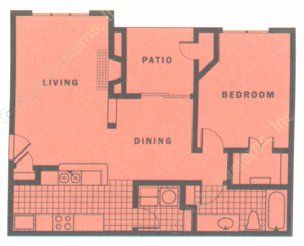 754 sq. ft. SEDONA floor plan