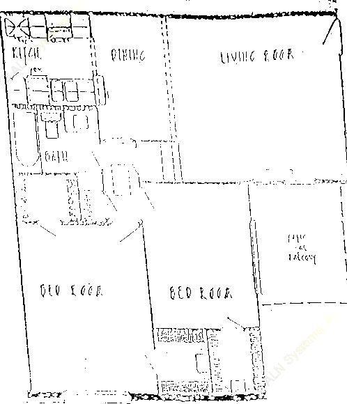 878 sq. ft. B2 floor plan
