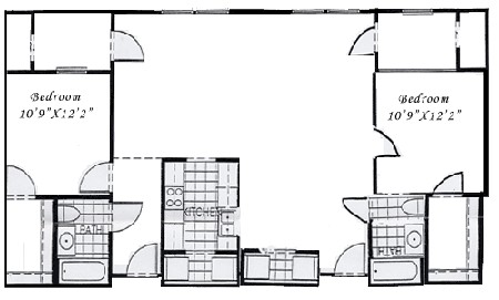 1,328 sq. ft. B3 floor plan