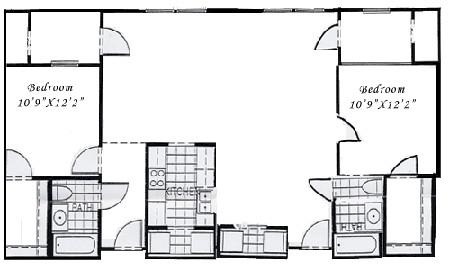 1,328 sq. ft. B3 floor plan