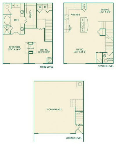 1,511 sq. ft. A2 floor plan