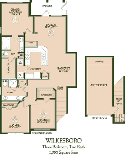 1,353 sq. ft. Wilkesboro floor plan