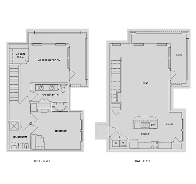 1,350 sq. ft. BB2-TH floor plan