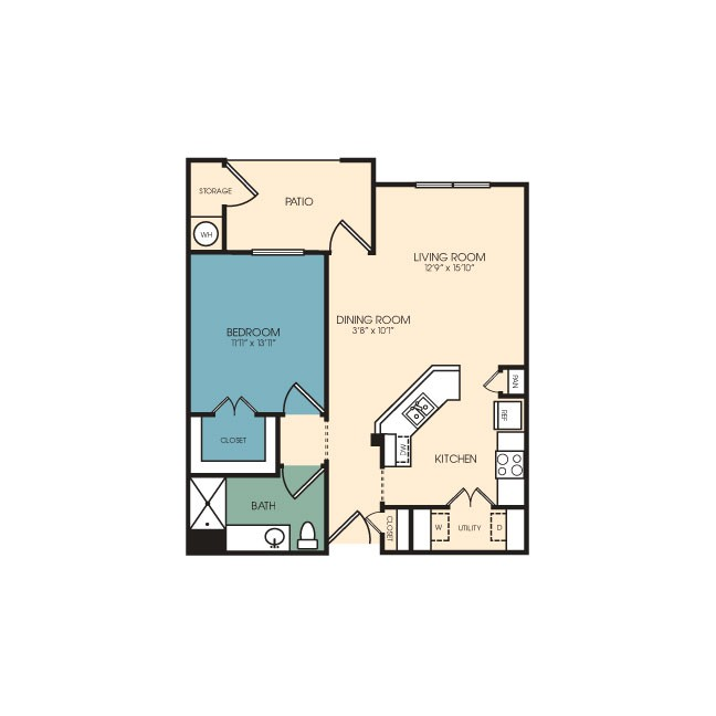 800 sq. ft. Estes floor plan