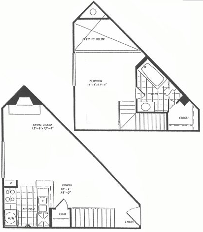 923 sq. ft. T8 floor plan