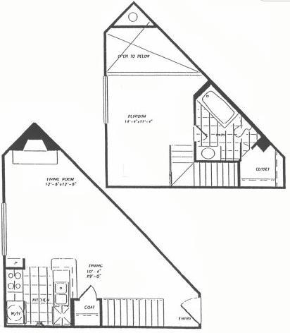 923 sq. ft. T8 floor plan