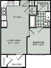 517 sq. ft. EF floor plan