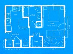 560 sq. ft. L1 floor plan