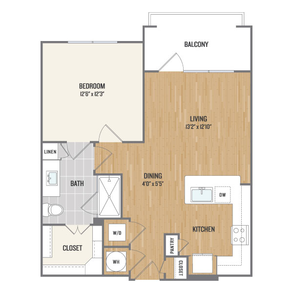 712 sq. ft. A3.2 floor plan